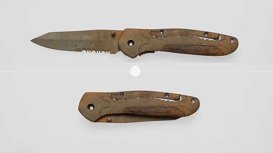 Het aangetroffen mes
